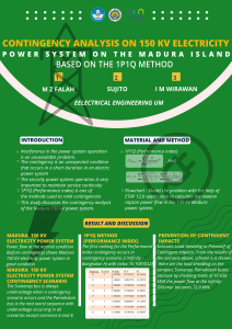 Contingency analysis On 150 kv Electricity Power System on The Madura Island Based on the 1P1Q method