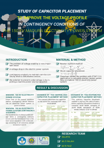 Study of capacitor placement to improve the voltage profile in contingency conditions of  the 150 kV Madura electricity power system